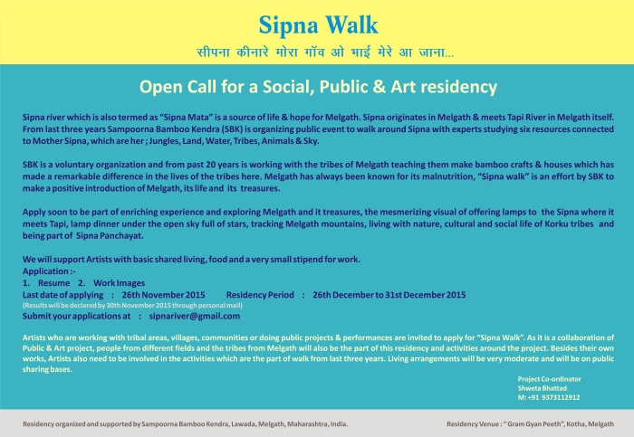 Sampoorna Bamboo Kendra Melgath, Gram Art Project, Sipna Walk, Art Residency India, Performance Art, Public Art, Alagangle